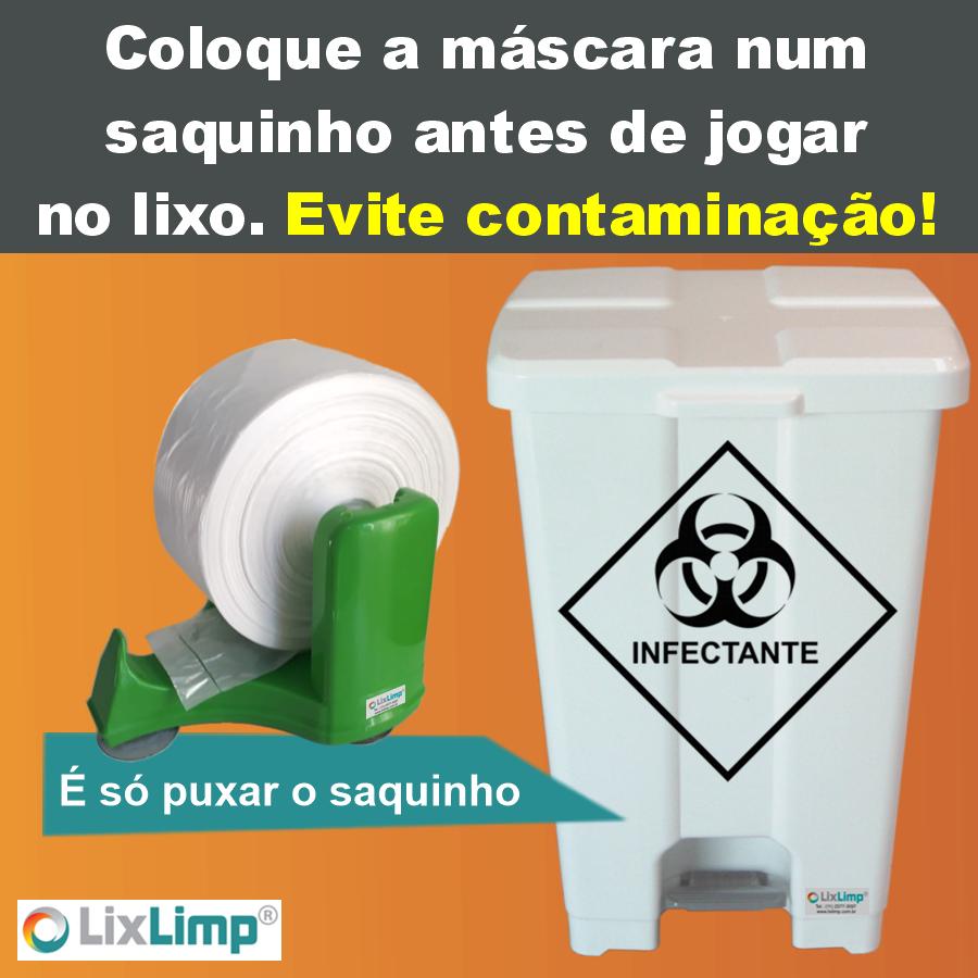 Coletor de Máscaras - comercializado pela Lixlimp